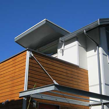 metal siding and gutters